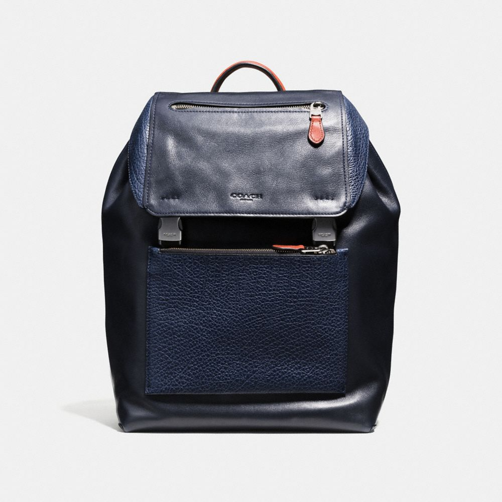 MANHATTAN BACKPACK IN MIXED LEATHERS