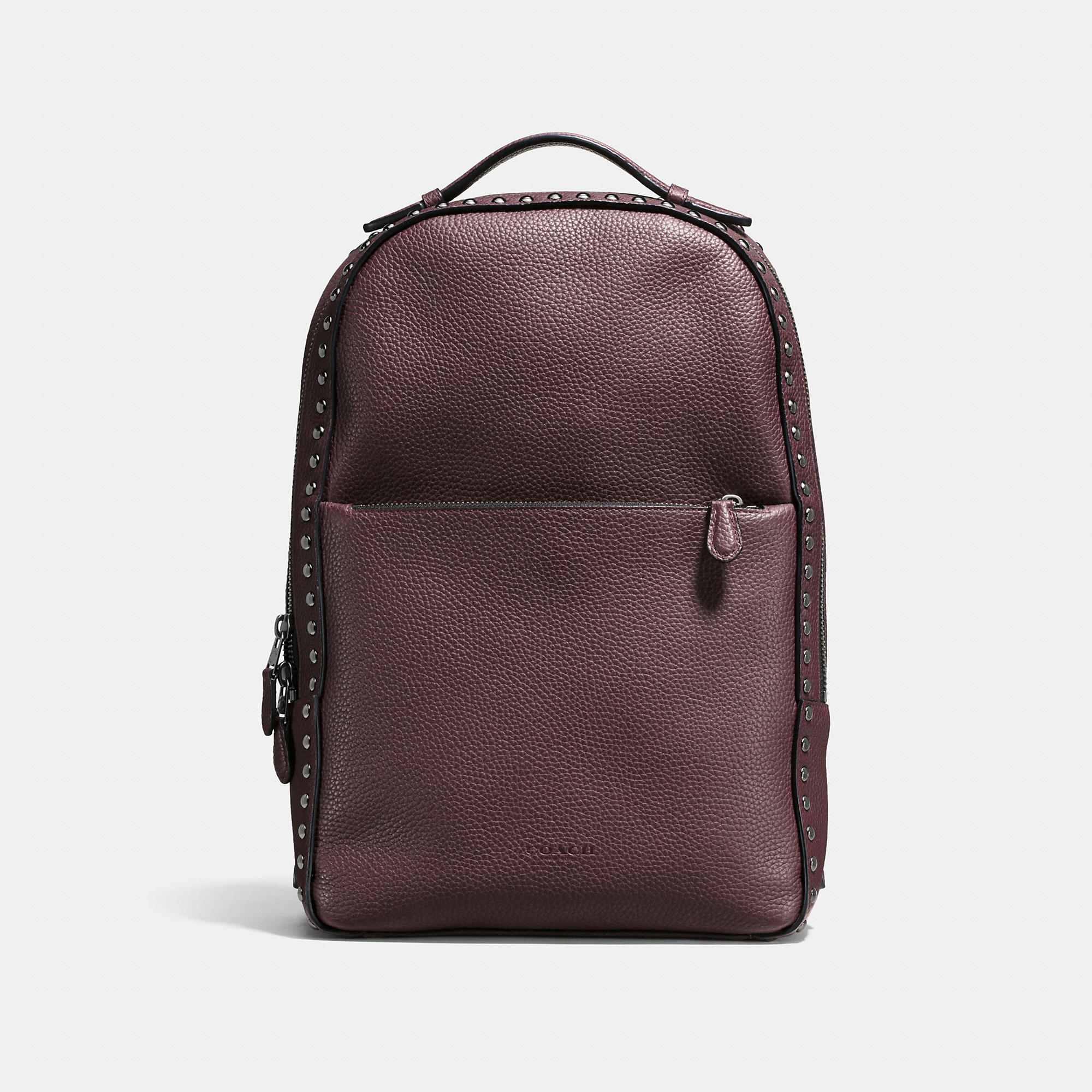 Coach Western Rivets Metropolitan Soft Backpack In Polished Pebble Leather
