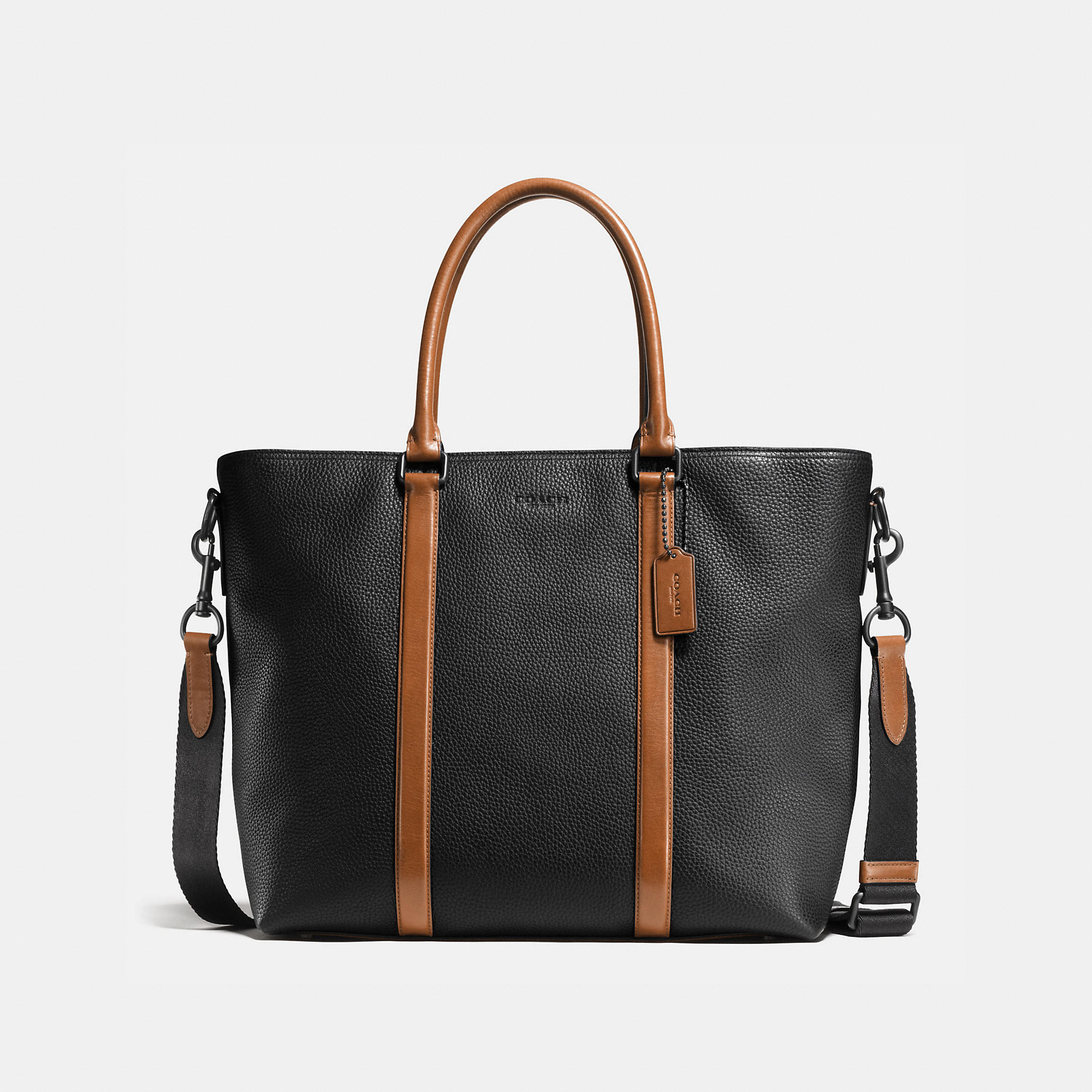 Coach Metropolitan Tote In Material Block Leather