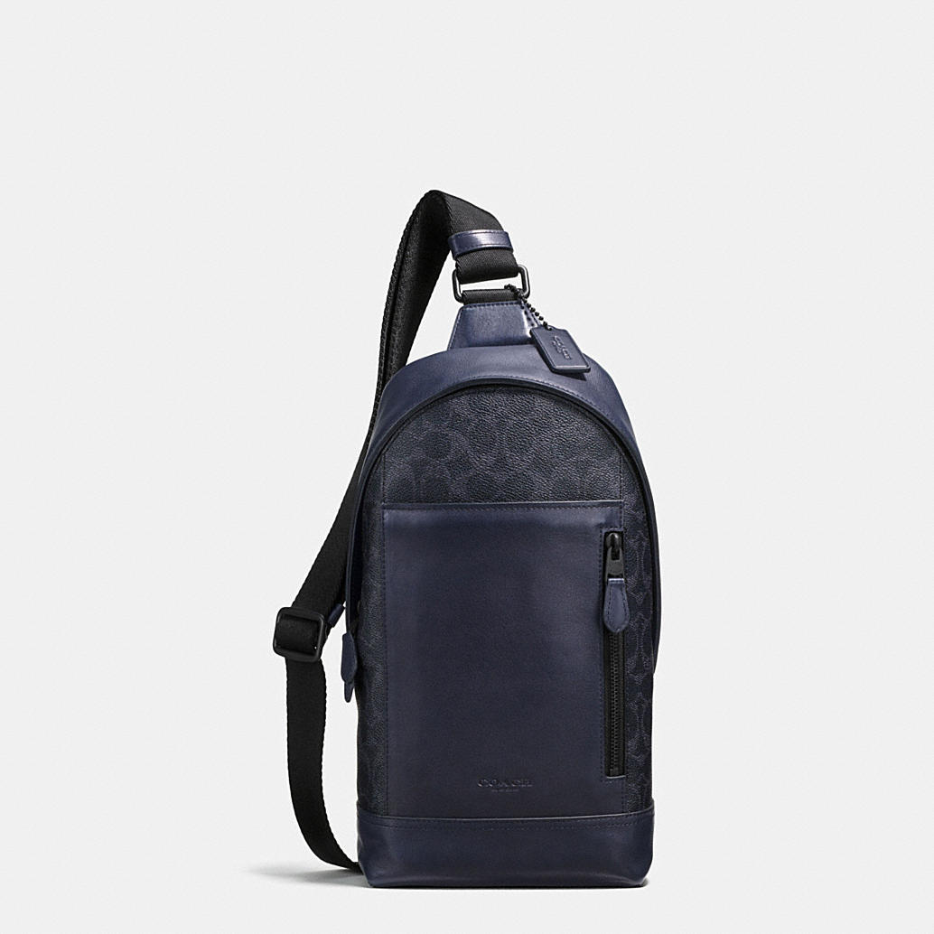 COACH: Manhattan Sling Pack In Signature Coated Canvas