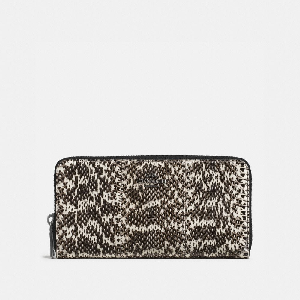 ACCORDION ZIP WALLET IN SNAKESKIN