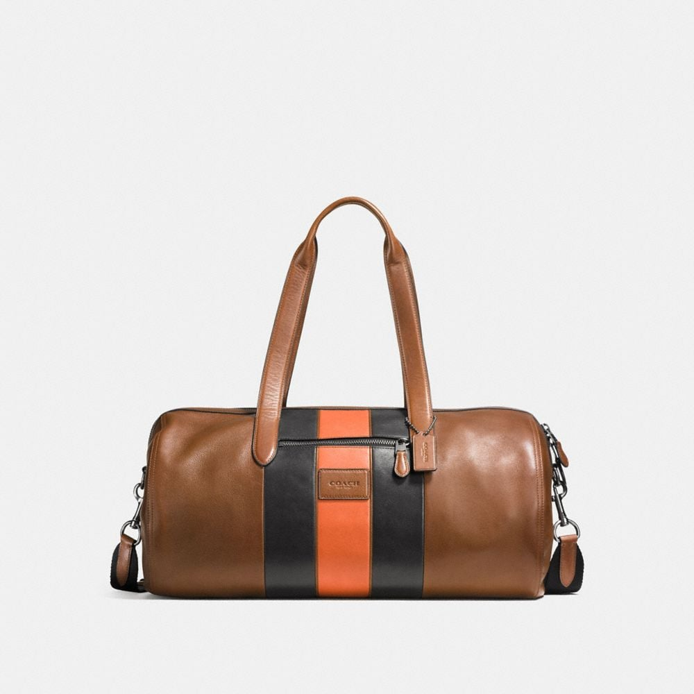 Coach Metropolitan Soft Gym Bag With Varsity Stripe