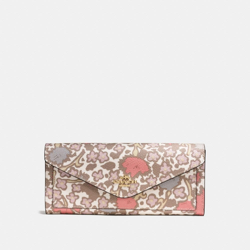 Soft Wallet in Yankee Floral Print Coated Canvas