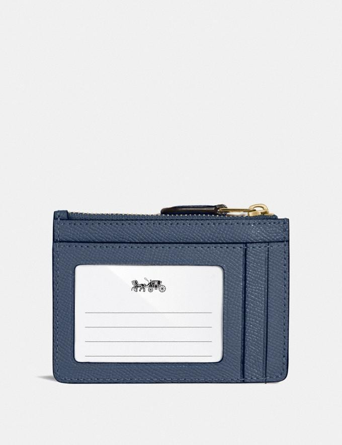 Coach Mini Skinny Id Case Brass/Dark Denim Women Wallets & Wristlets Card Cases Alternate View 1