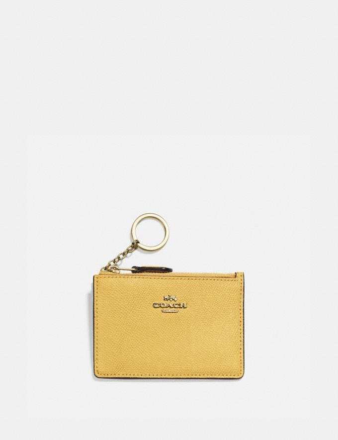 Coach Mini Skinny Id Case Brass/Sunlight Gifts For Her Under $100