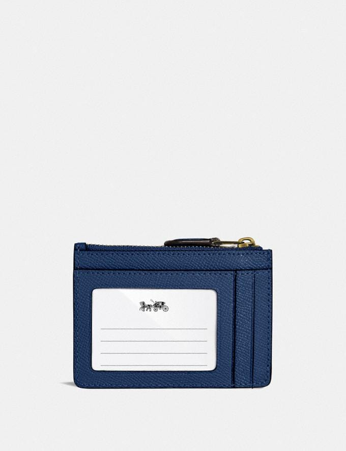 Coach Mini Skinny Id Case B4/Deep Blue New Women's New Arrivals Small Leather Goods Alternate View 1