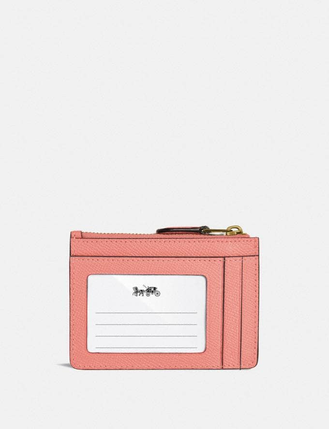Coach Mini Skinny Id Case B4/Candy Pink DEFAULT_CATEGORY Alternate View 1