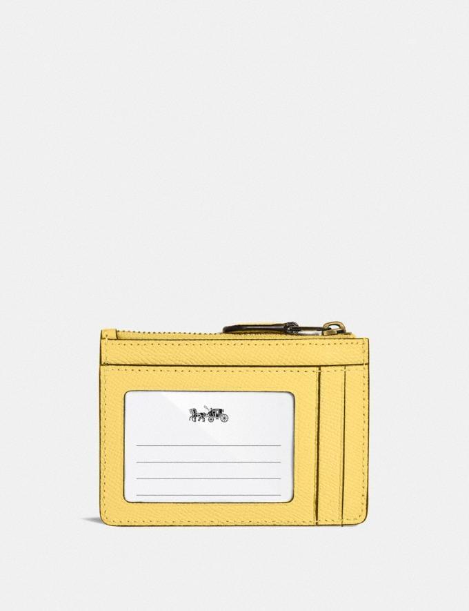 Coach Mini Skinny Ausweisetui B4/Retro-Gelb Neu Neuheiten für Damen Kleine Lederaccessoires Alternative Ansicht 1