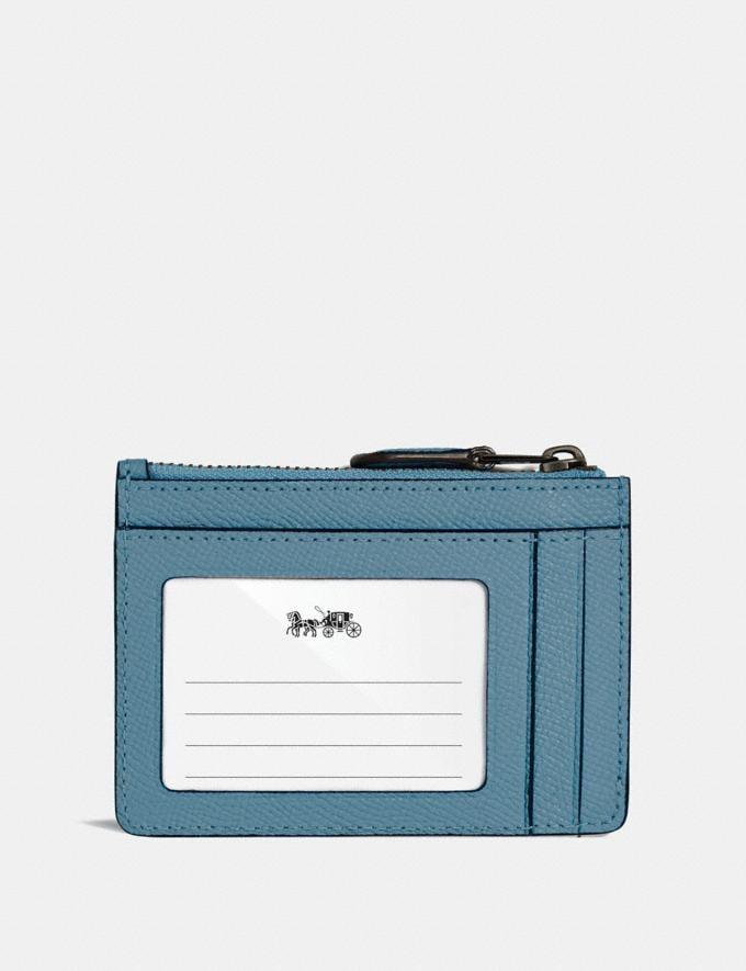 Coach Mini Skinny Id Case Chambray/Dark Gunmetal Women Small Leather Goods Small Wallets Alternate View 1