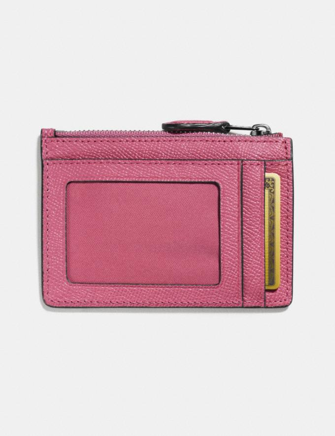 Coach Mini Skinny Id Case Rouge/Dark Gunmetal Women Small Leather Goods Small Wallets Alternate View 1