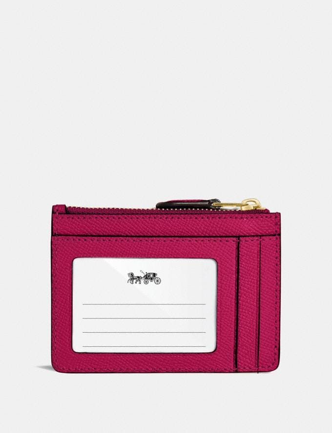 Coach Mini Skinny Id Case Bright Cherry/Gold  Alternate View 1