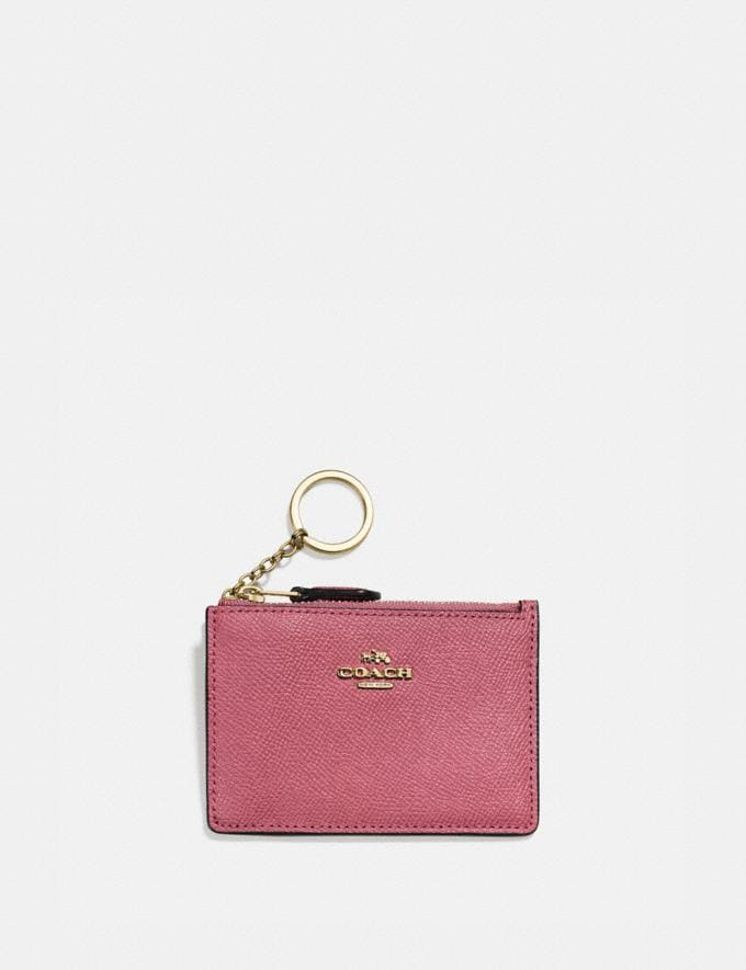 Coach Mini Skinny Id Case Gold/Dusty Pink SALE Online Exclusives