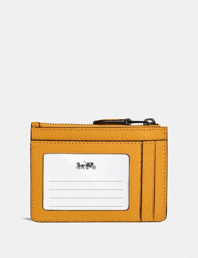 Coach Mini Skinny Id Case Gunmetal/Dark Mustard Gifts For Her Under $100 Alternate View 1