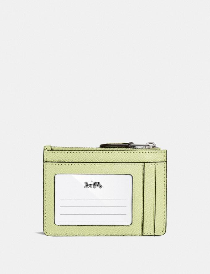 Coach Mini Skinny Ausweisetui Lh/Blasslimette Neu Neuheiten für Damen Portemonnaies Alternative Ansicht 1
