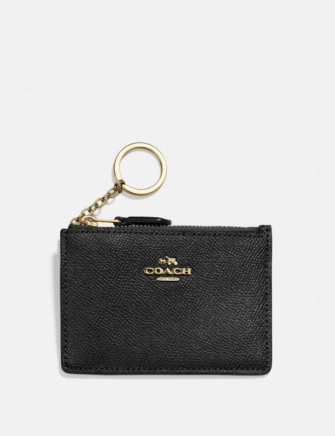 Coach Mini Skinny Id Case Black/Light Gold Women Accessories