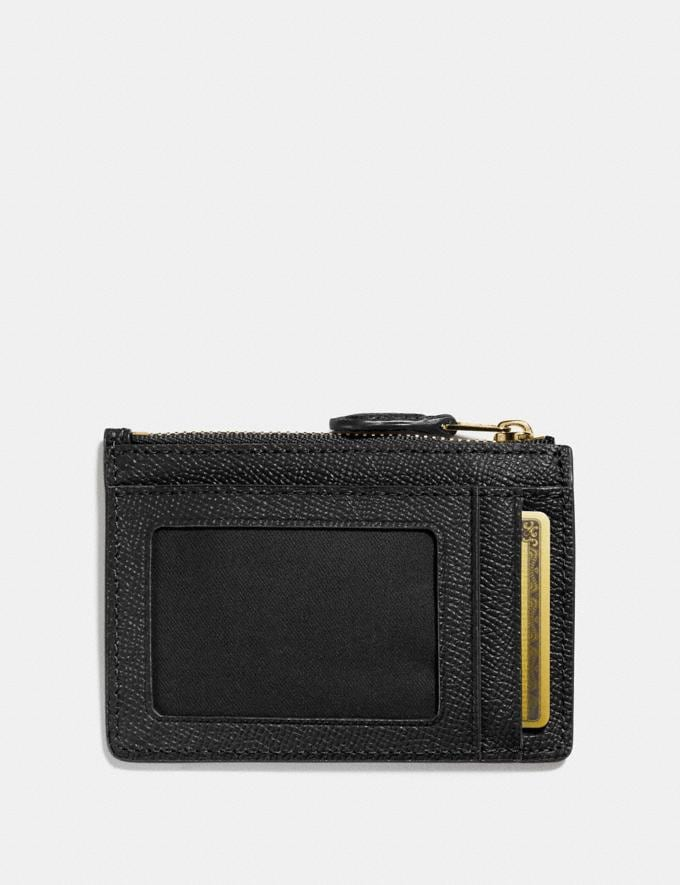 Coach Mini Skinny Id Case Black/Light Gold Women Accessories Alternate View 1