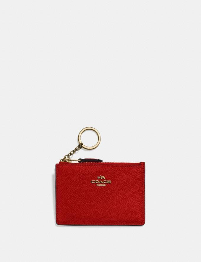Coach Mini Skinny Id Case Jasper/Light Gold Gifts For Her Bestsellers