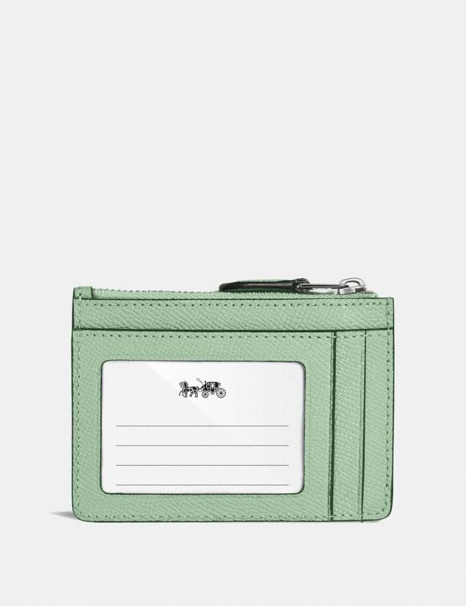 Coach Mini Skinny Id Case Light Teal/Silver Women Wallets & Wristlets Small Wallets Alternate View 1