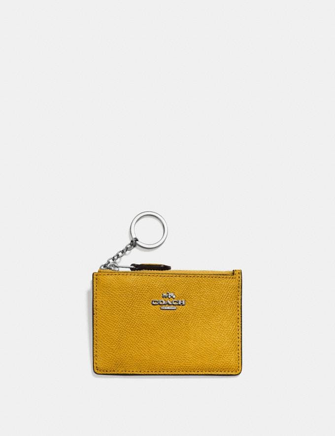 Coach Mini Skinny Id Case Maize/Silver SALE Women's Sale New to Sale