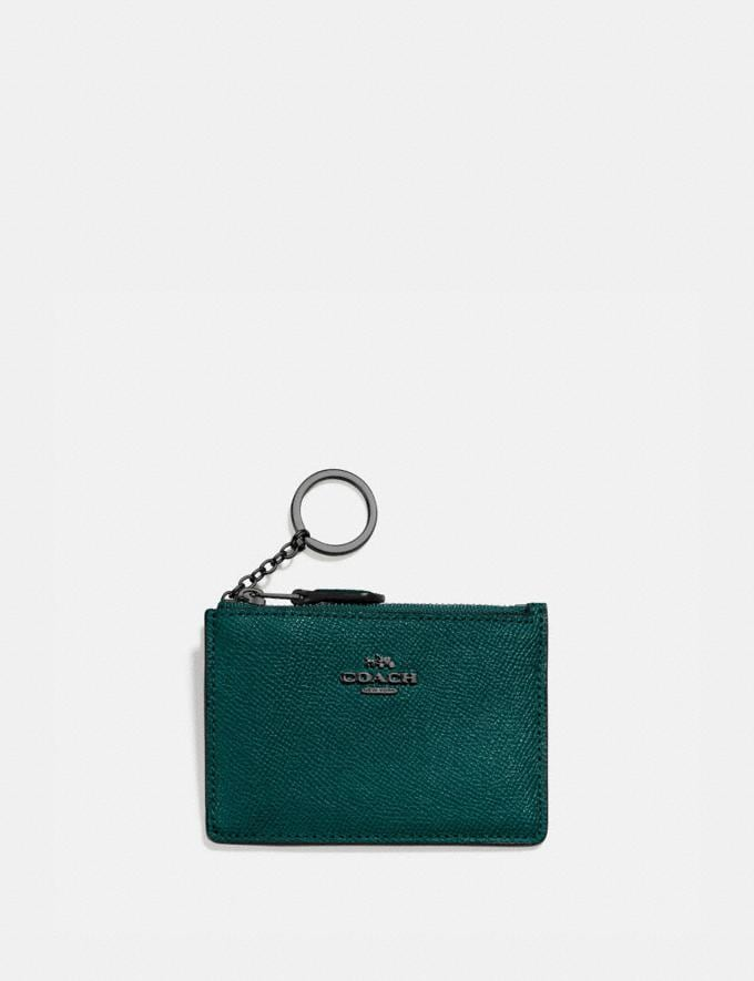 Coach Mini Skinny Id Case Pewter/Forest Gift For Her Under €100