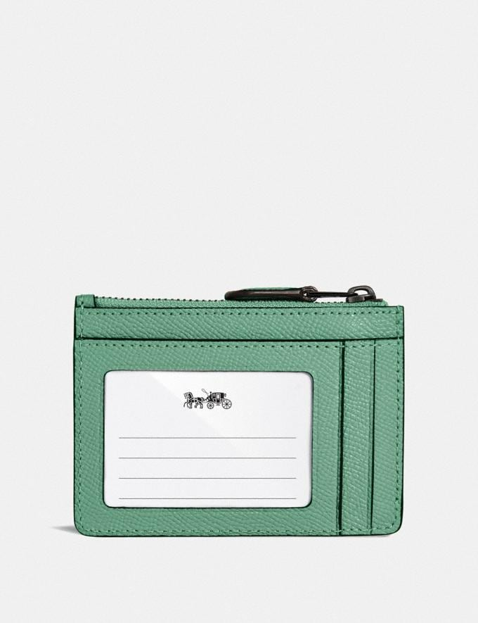 Coach Mini Skinny Id Case V5/Washed Green Women Small Leather Goods Card Cases Alternate View 1