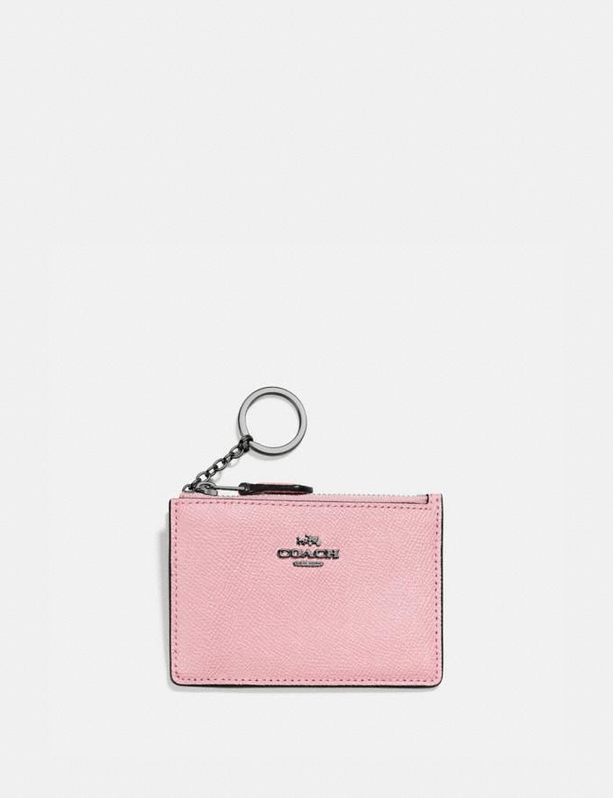 Coach Mini Skinny Id Case Pewter/Aurora Gifts For Her Under $100