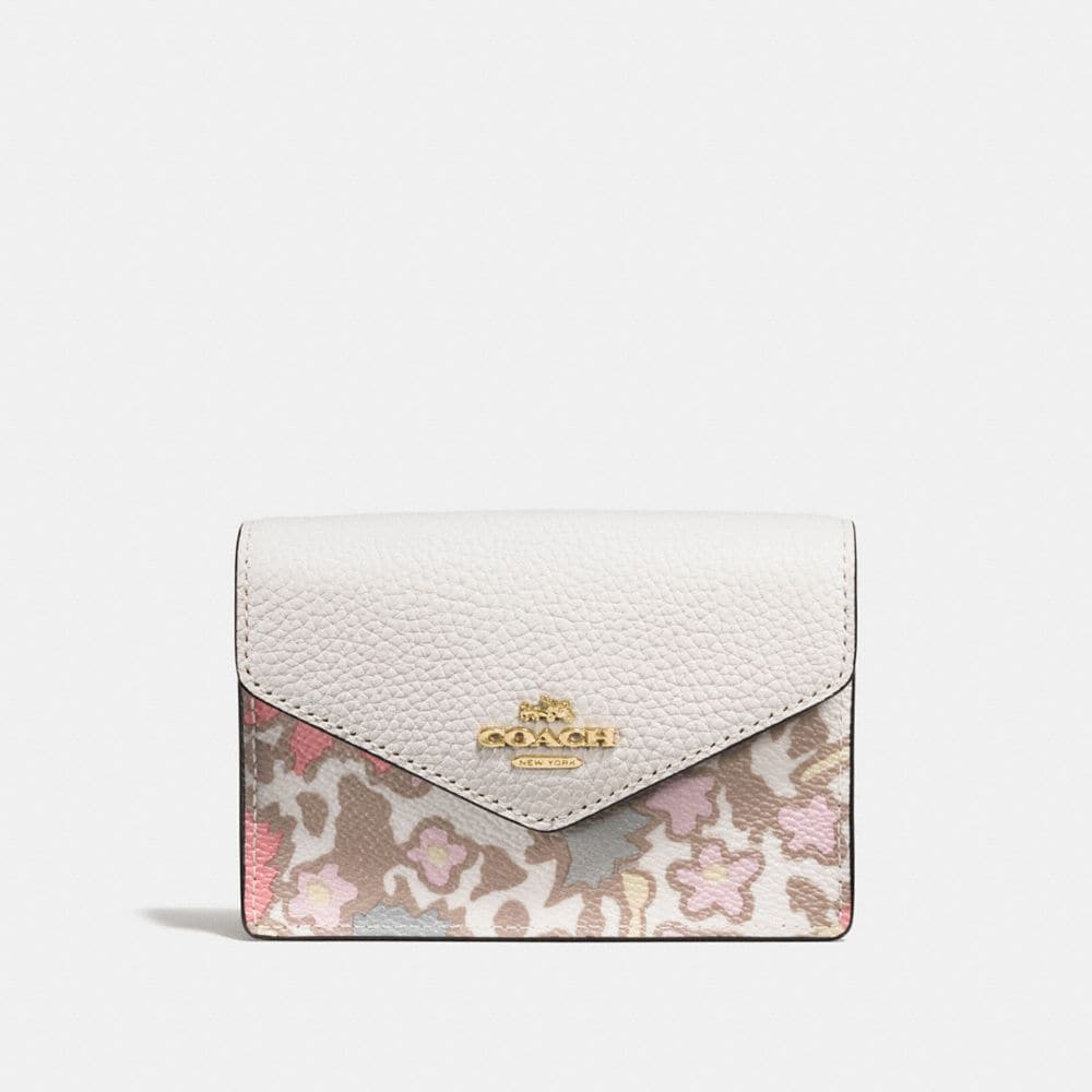 Envelope Card Case in Yankee Floral Print Coated Canvas
