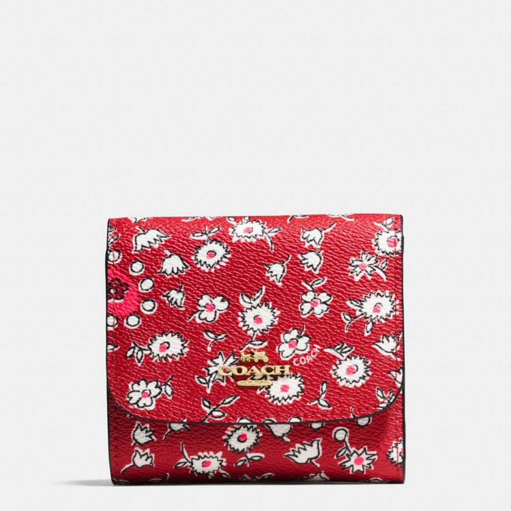Coach Small Wallet in Wild Hearts Print Canvas