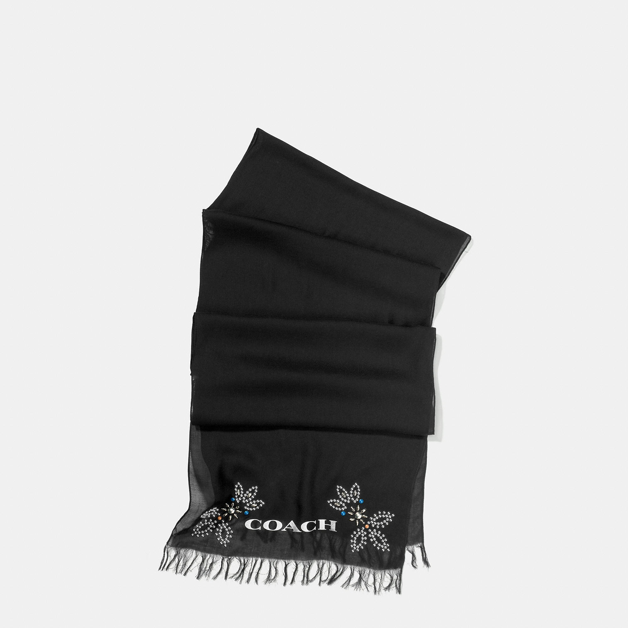 Coach Western Rivets Oblong Scarf
