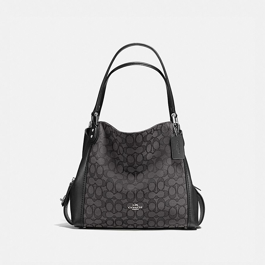 COACH  Edie Shoulder Bag 31 in Signature Jacquard 6a74487403b72