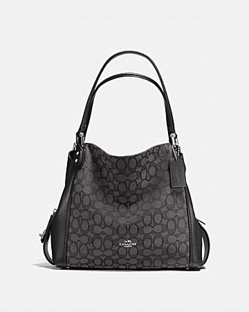 EDIE SHOULDER BAG 31 IN SIGNATURE JACQUARD ... a31a186fbff4b