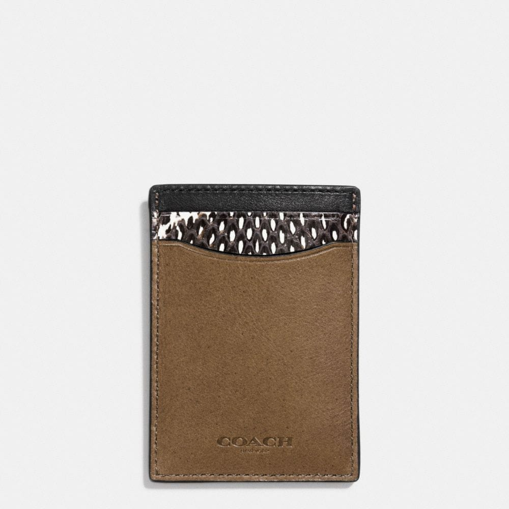 3-IN-1 WALLET IN COLORBLOCK MIXED LEATHERS