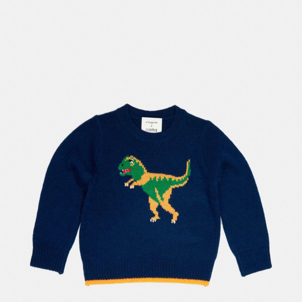 Kids Dino Intarsia Sweater