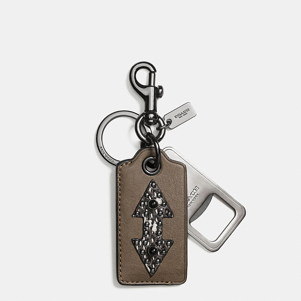 coach western rivets bottle opener key ring. Black Bedroom Furniture Sets. Home Design Ideas