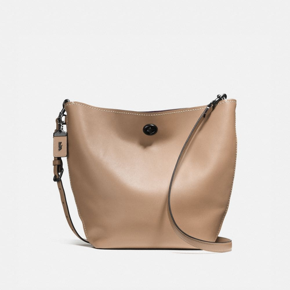 DUFFLE SHOULDER BAG IN GLOVETANNED LEATHER