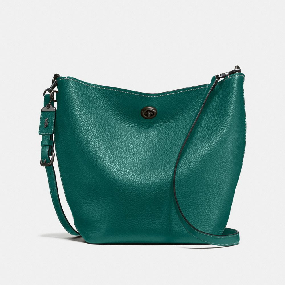 COACH: Duffle Shoulder Bag in Glovetanned Pebble Leather