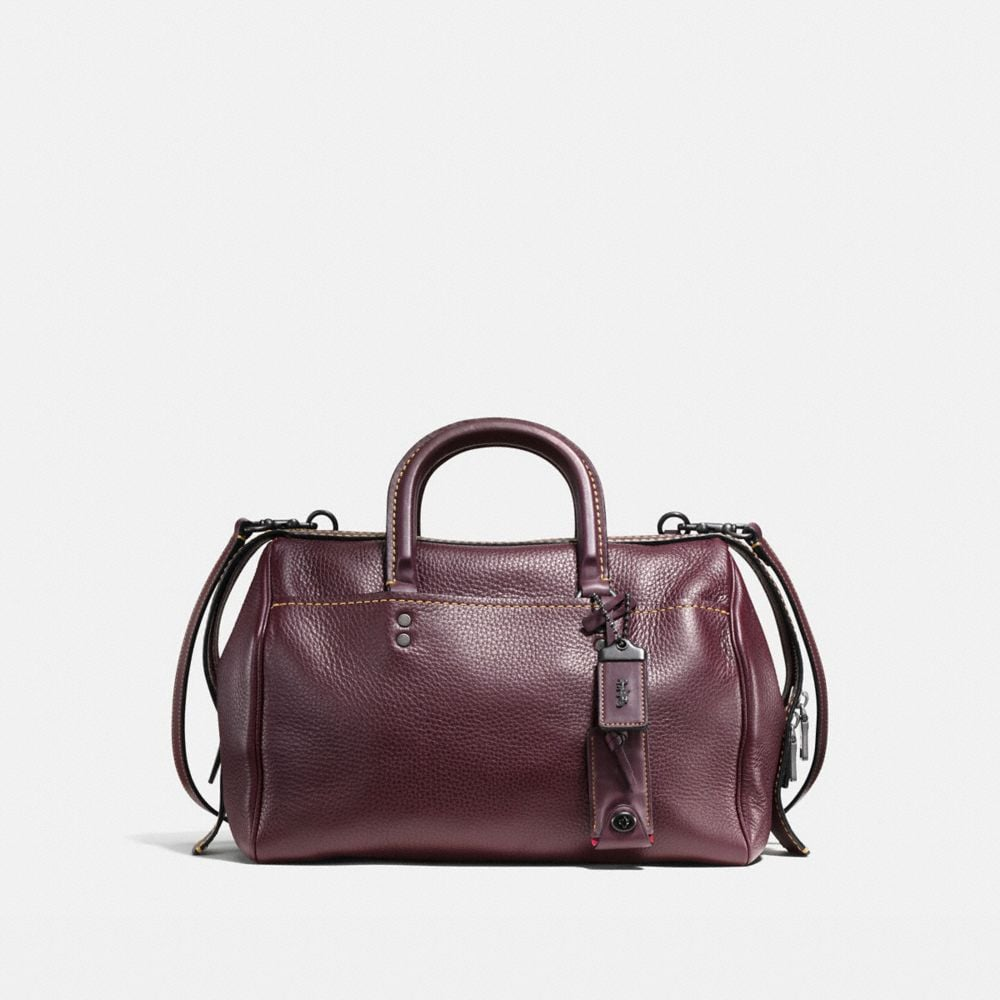 Coach Rogue Satchel in Glovetanned Pebble Leather