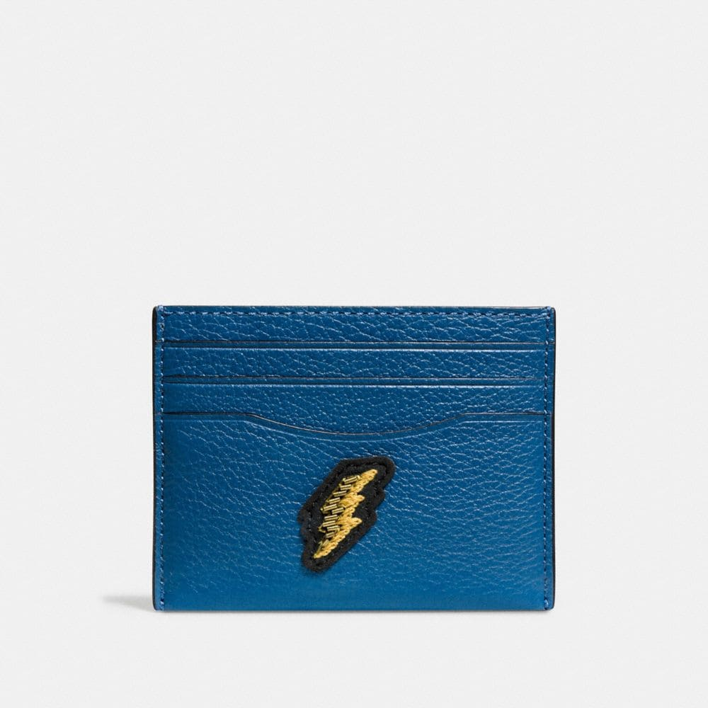 Card Case in Grain Leather With Patches