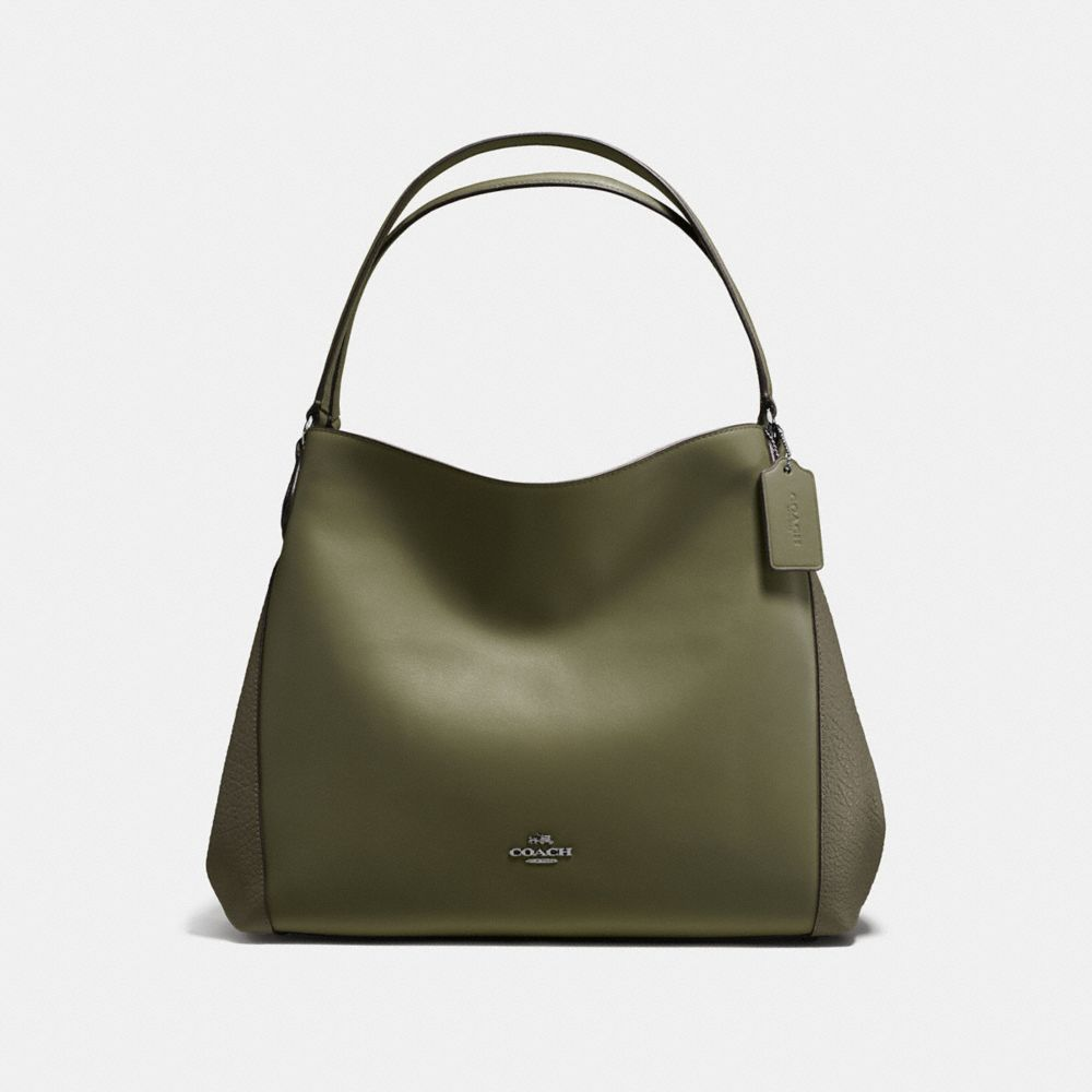 EDIE SHOULDER BAG IN MIXED LEATHERS