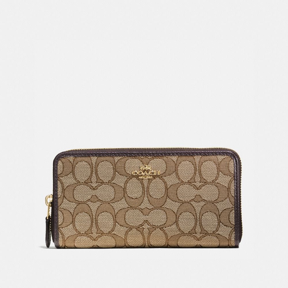 COACH: Accordion Zip Wallet