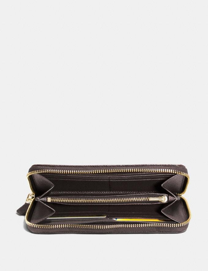 Coach Accordion Zip Wallet in Signature Jacquard Khaki/Brown/Light Gold PRIVATE SALE Shop by Price 40% Off Alternate View 1