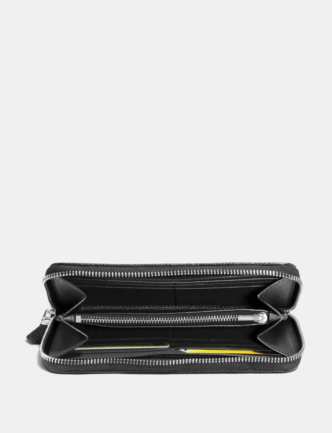 Coach Accordion Zip Wallet in Signature Jacquard Black Smoke/Black/Silver  Alternative Ansicht 1