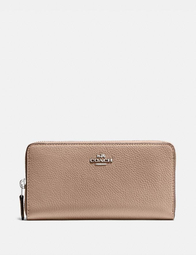 Coach Accordion Zip Wallet Lh/Taupe New Women's New Arrivals