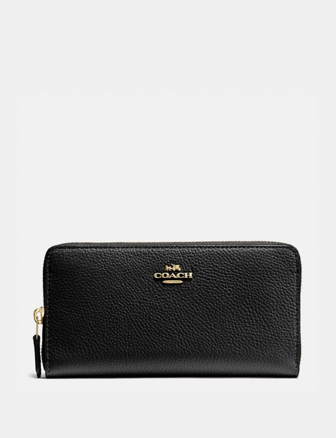 Coach Accordion Zip Wallet Li/Black New Women's New Arrivals