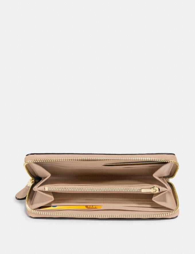 Coach Accordion Zip Wallet Beechwood/Light Gold New Women's New Arrivals Alternate View 1