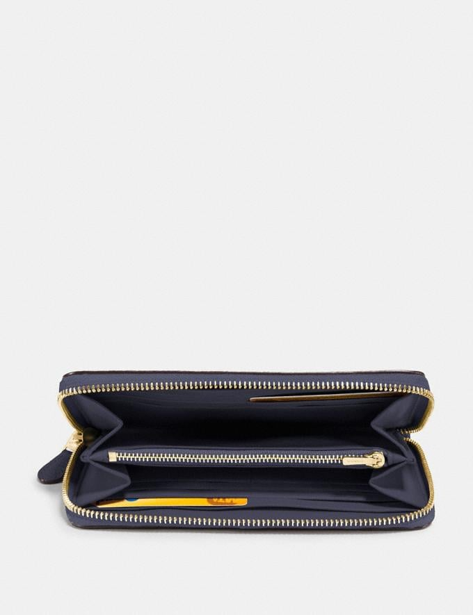Coach Accordion Zip Wallet Navy/Light Gold SALE Women's Sale Wallets & Wristlets Alternate View 1