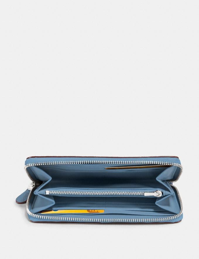 Coach Accordion Zip Wallet Slate/Silver New Women's New Arrivals Small Leather Goods Alternate View 1
