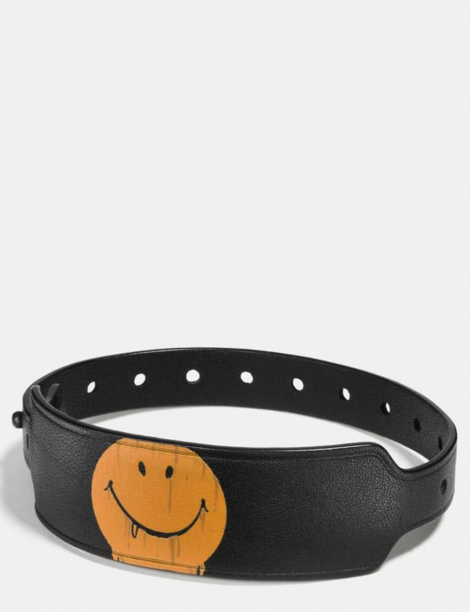 Coach Printed Festival Bracelet Gnarly Face Black/Yellow New Featured Rebellious Prints