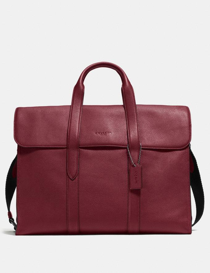 Coach Metropolitan Portfolio Red Currant SALE Men's Sale