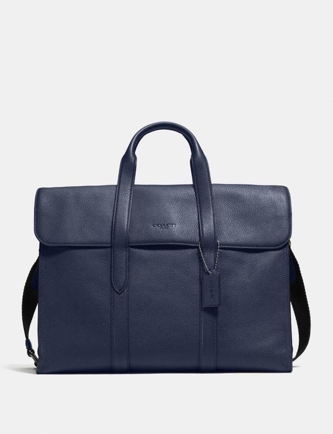 Coach Metropolitan Portfolio Navy/Black Antique Nickel Men Bags Briefcases